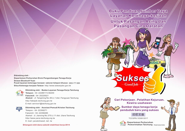 外籍配偶及大陸地區配偶就業服務資源手冊-印尼文版 (下載PDF電子檔), 另開新視窗.